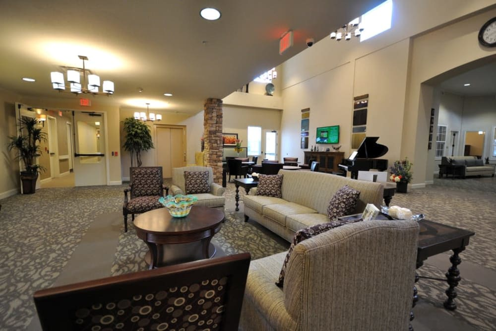 Lobby at Legacy at Georgetown in Georgetown, Texas.