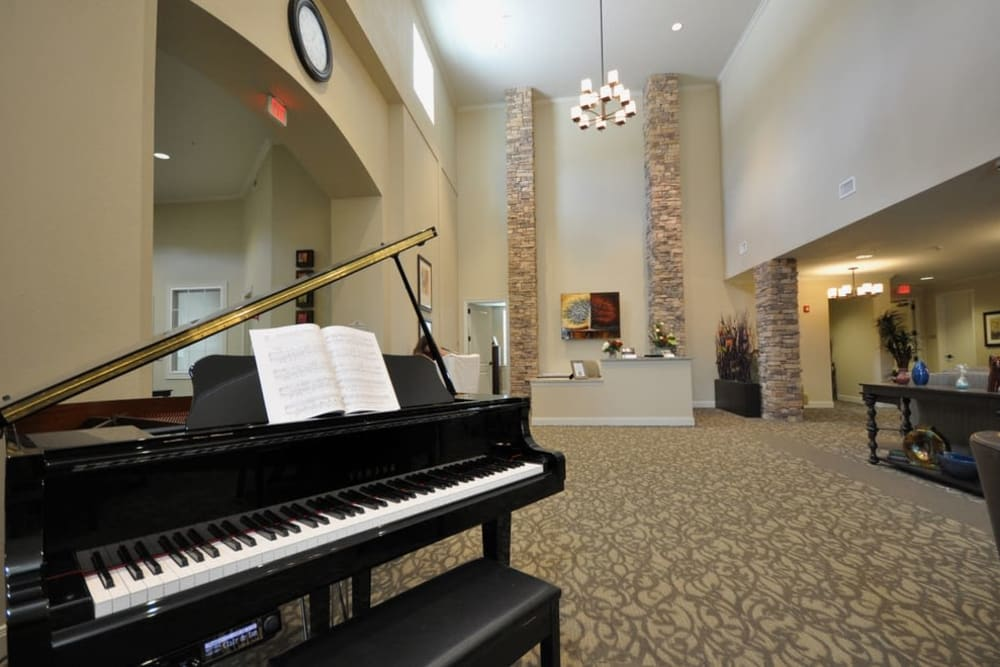 A piano at Legacy at Georgetown in Georgetown, Texas.