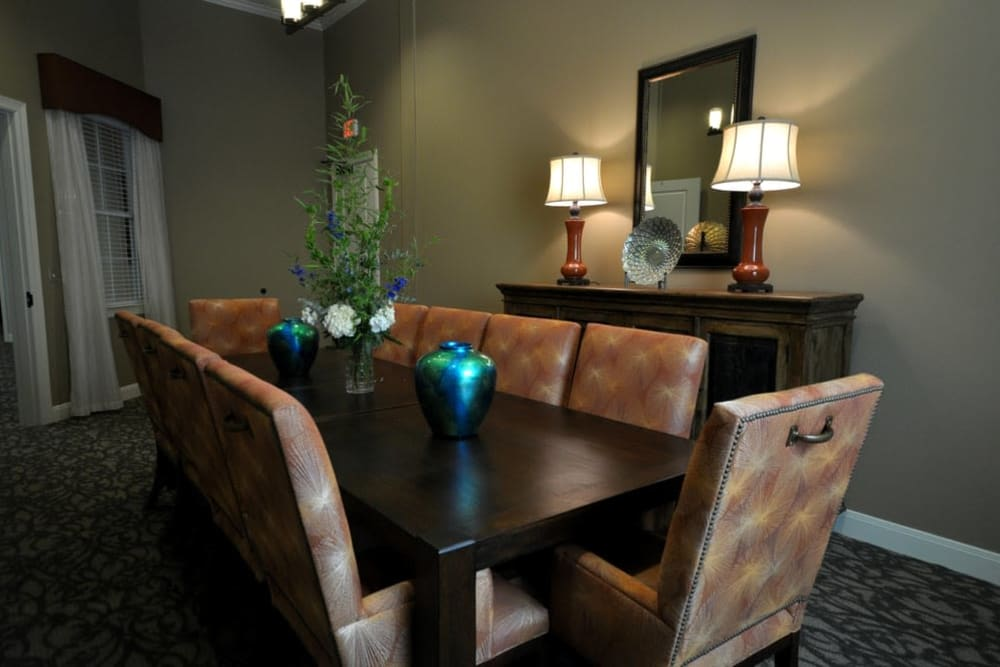 Dining room at Legacy at Georgetown in Georgetown, Texas.