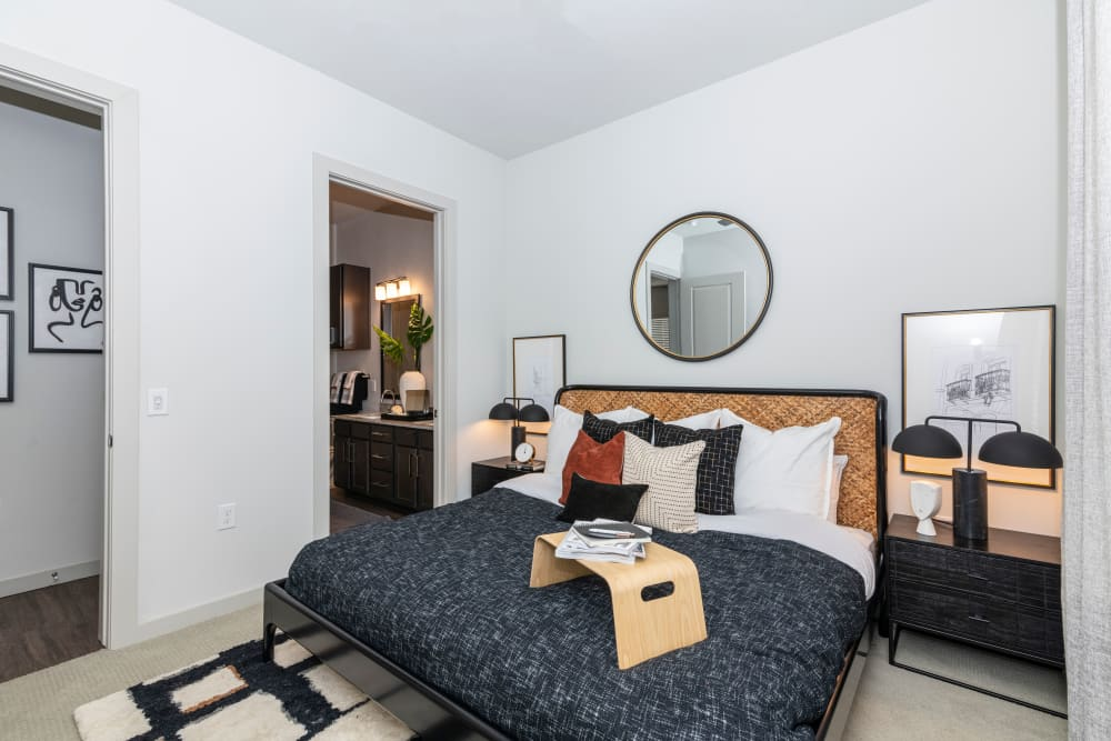 Large primary bedroom at Magnolia on the Green in Allen, Texas