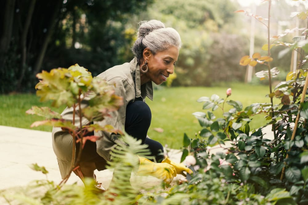 Gardening club at Golden Pond Retirement Community in Sacramento, California