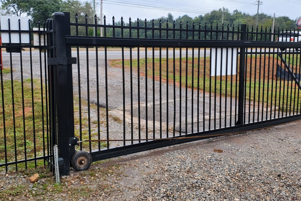 The front gate at StayLock Storage in Athens, Georgia