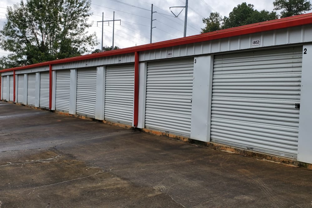 Outdoor units at StayLock Storage in Athens, Georgia