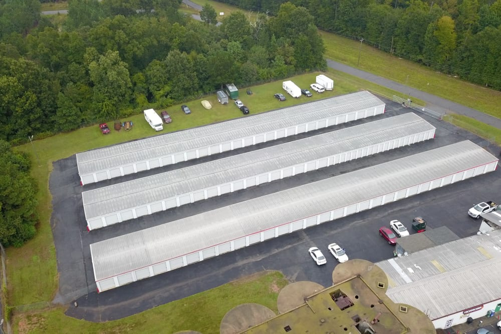 View from above of StayLock Storage in Athens, Georgia