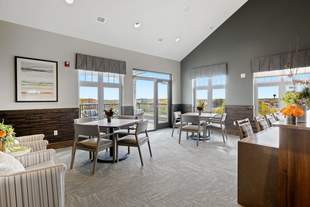 Resident common space at Anthology of Novi - Now Open in Novi, Michigan