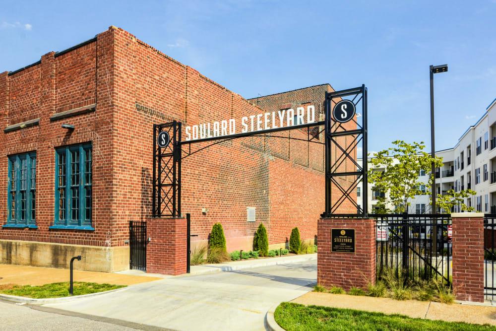 Brick exterior of Steelyard in St. Louis, Missouri