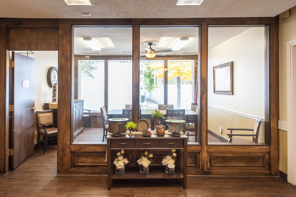 Meeting room at Heritage Place in Bountiful, Utah.