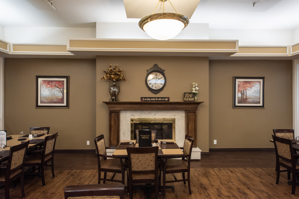 Dining room at Heritage Place in Bountiful, Utah.