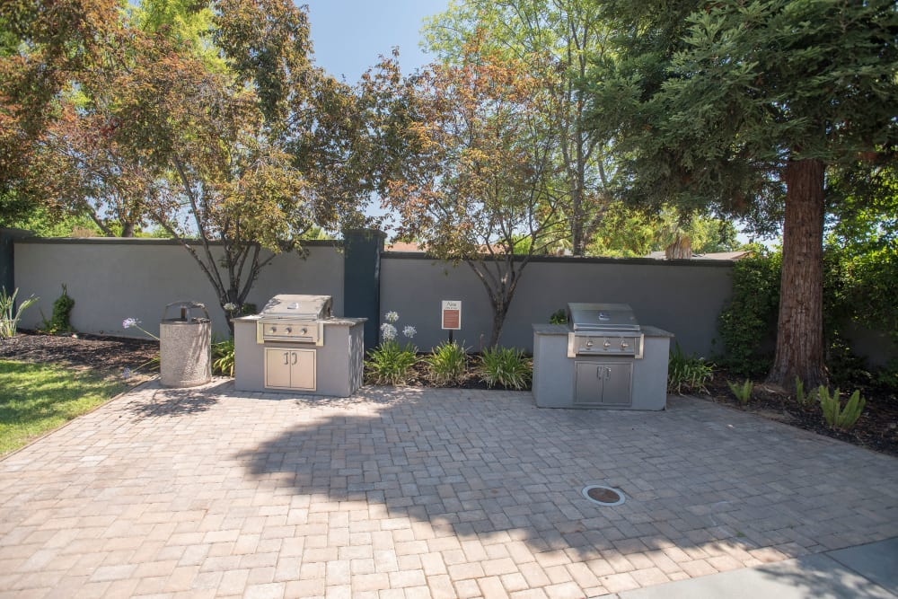 A grilling area by the pool at Avion Apartments in Rancho Cordova, California