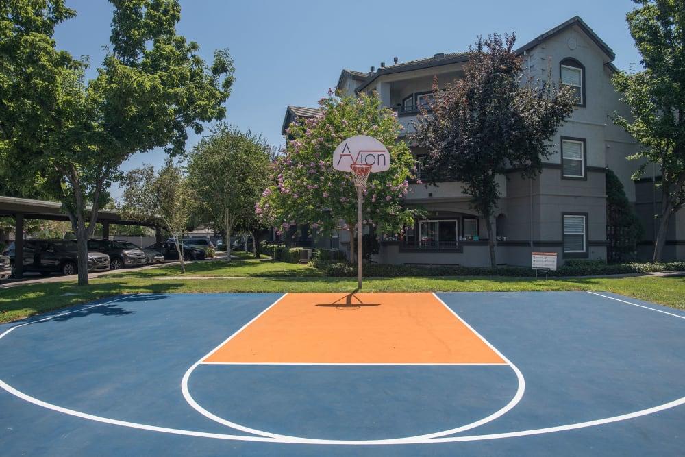 Basketball court at Avion Apartments in Rancho Cordova, California