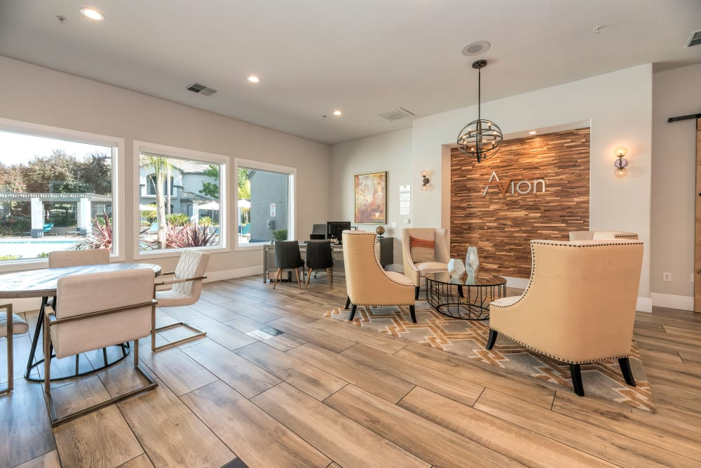 Community common area for resident use at Avion Apartments in Rancho Cordova, California