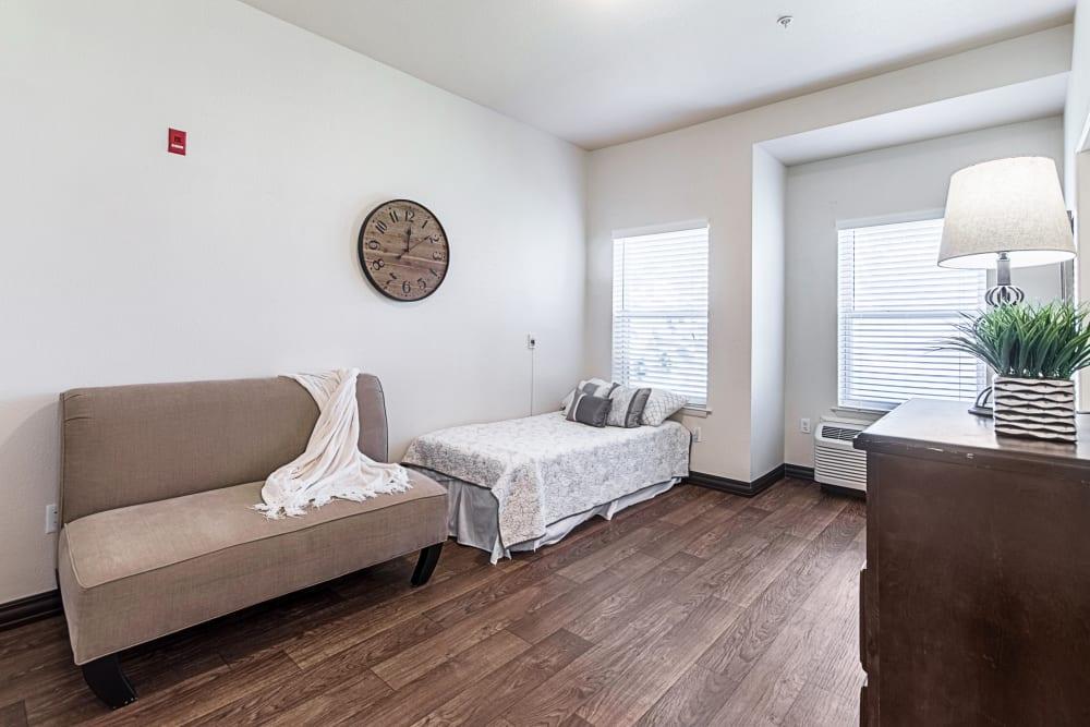 A bedroom at Truewood by Merrill, Clovis in Clovis, California.