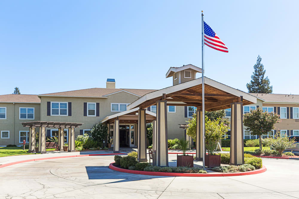 The main building at Orchard Park in Clovis, California