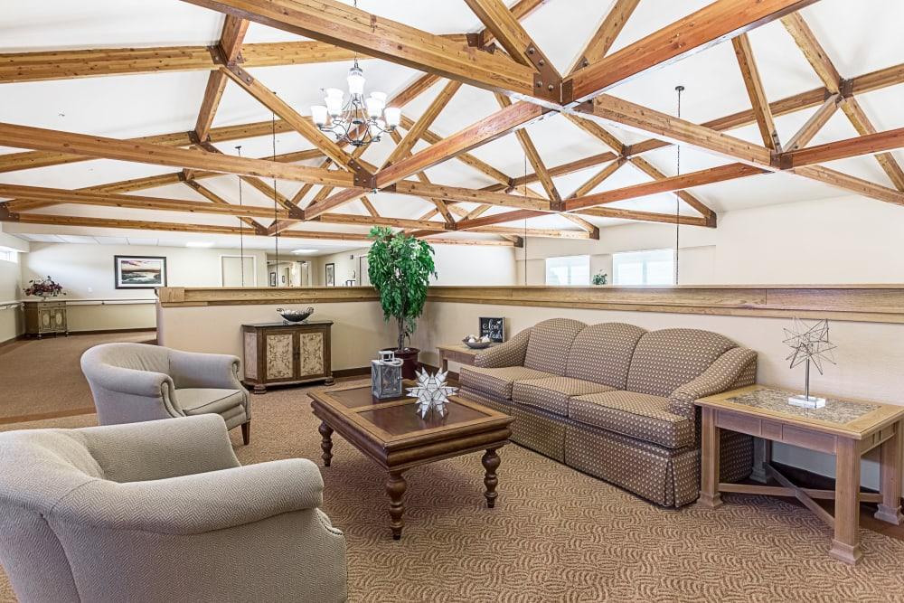 Private seating area at Truewood by Merrill, Clovis in Clovis, California.