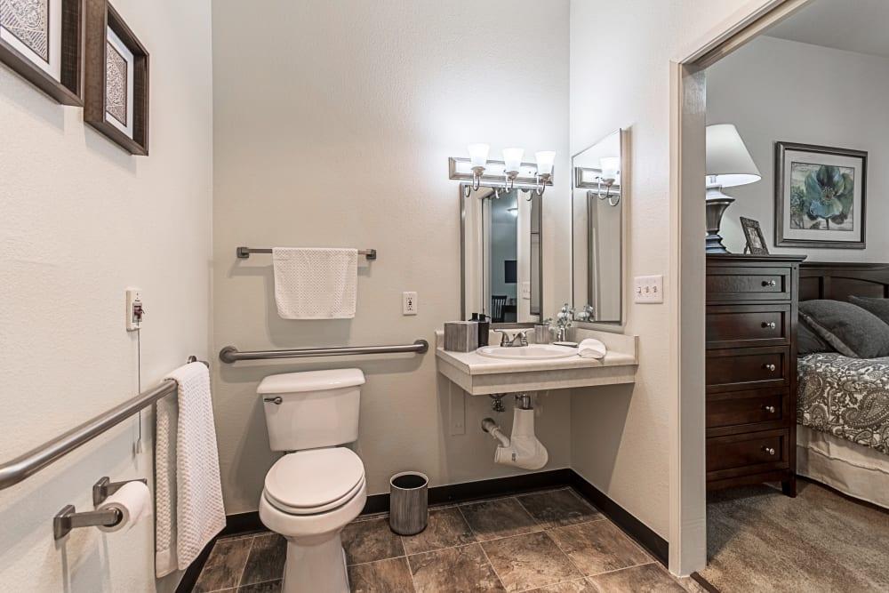 Resident bathroom at Truewood by Merrill, Clovis in Clovis, California.