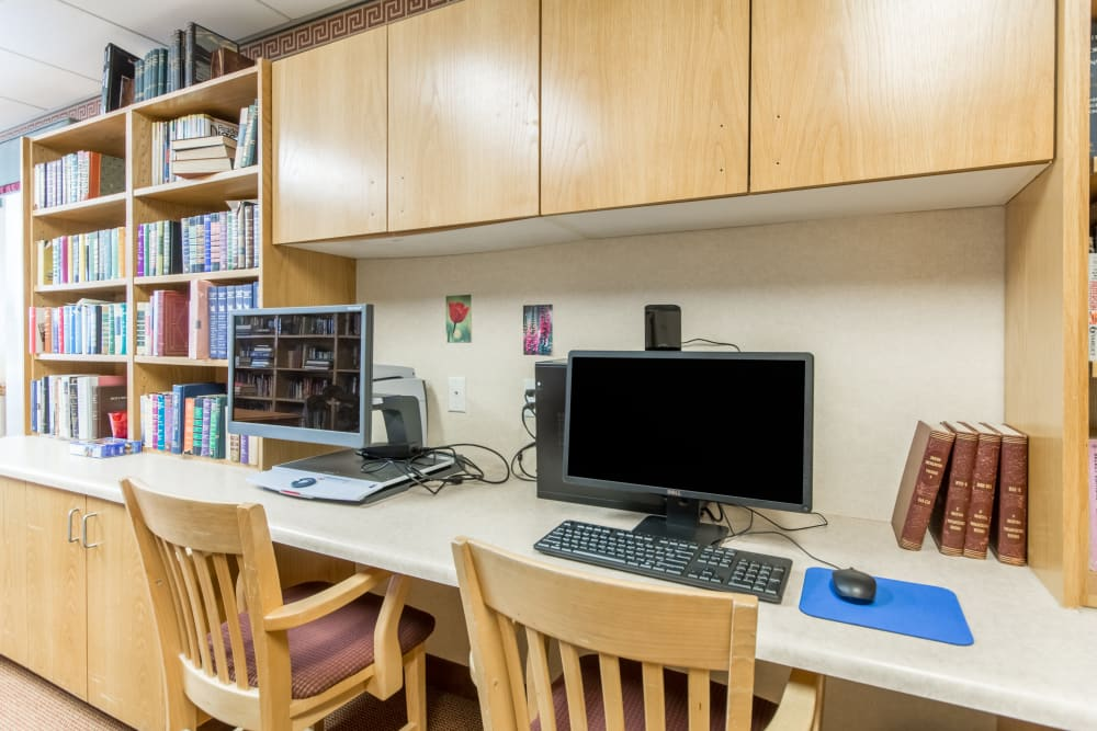 Media room at Truewood by Merrill, Clovis in Clovis, California.