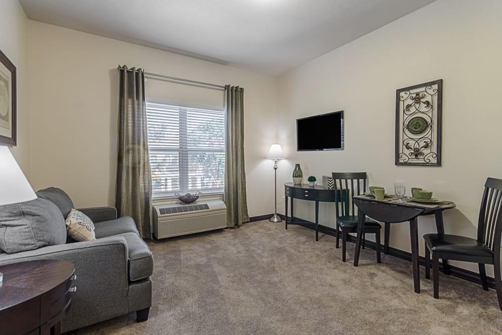 Model living room at Truewood by Merrill, Clovis in Clovis, California.