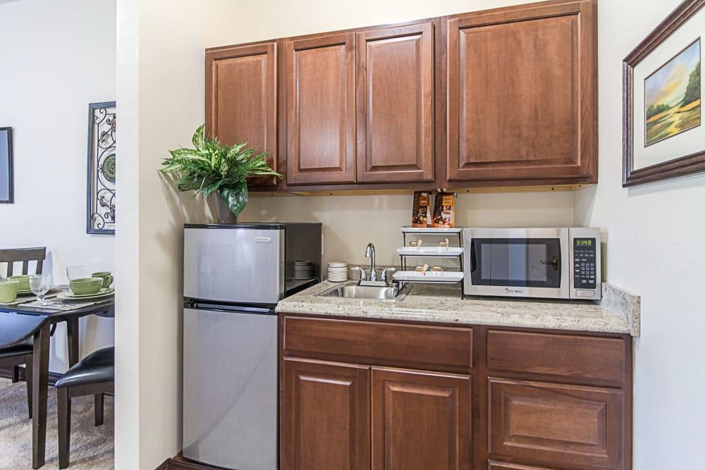 Model kitchen at Truewood by Merrill, Clovis in Clovis, California.