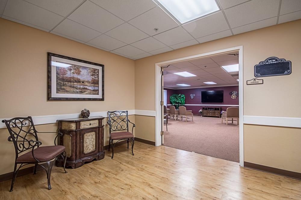 TV room at Truewood by Merrill, Clovis in Clovis, California.