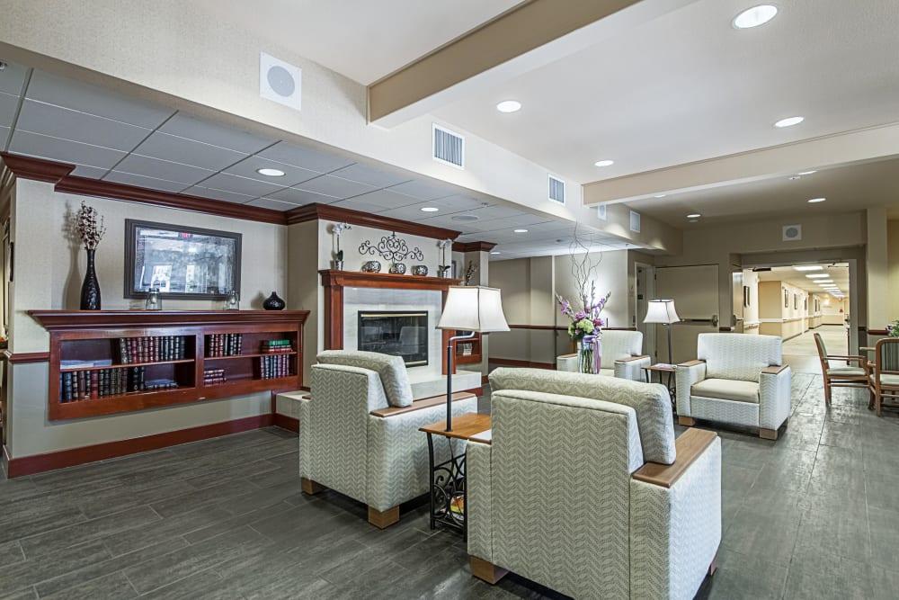 Lounge seating at Truewood by Merrill, Clovis in Clovis, California.