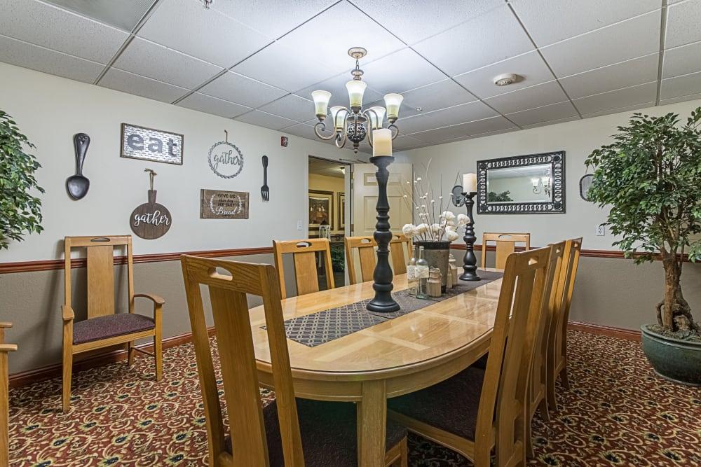 Private dining room at Truewood by Merrill, Clovis in Clovis, California.