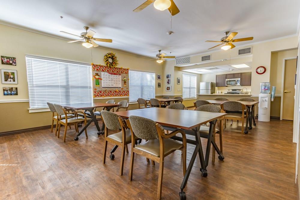 Resident community room at Desert Flower in Scottsdale, Arizona.