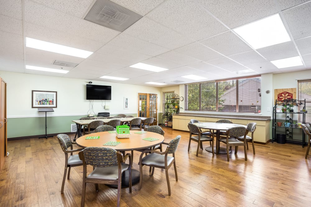Activity room at Willow Park in Boise, Idaho.