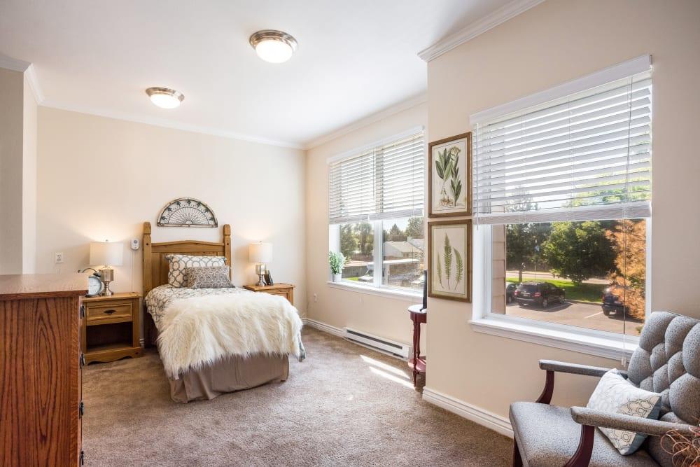Spacious resident bedroom at Truewood by Merrill, Boise in Boise, Idaho