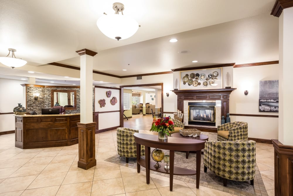 The lobby at Willow Park in Boise, Idaho.