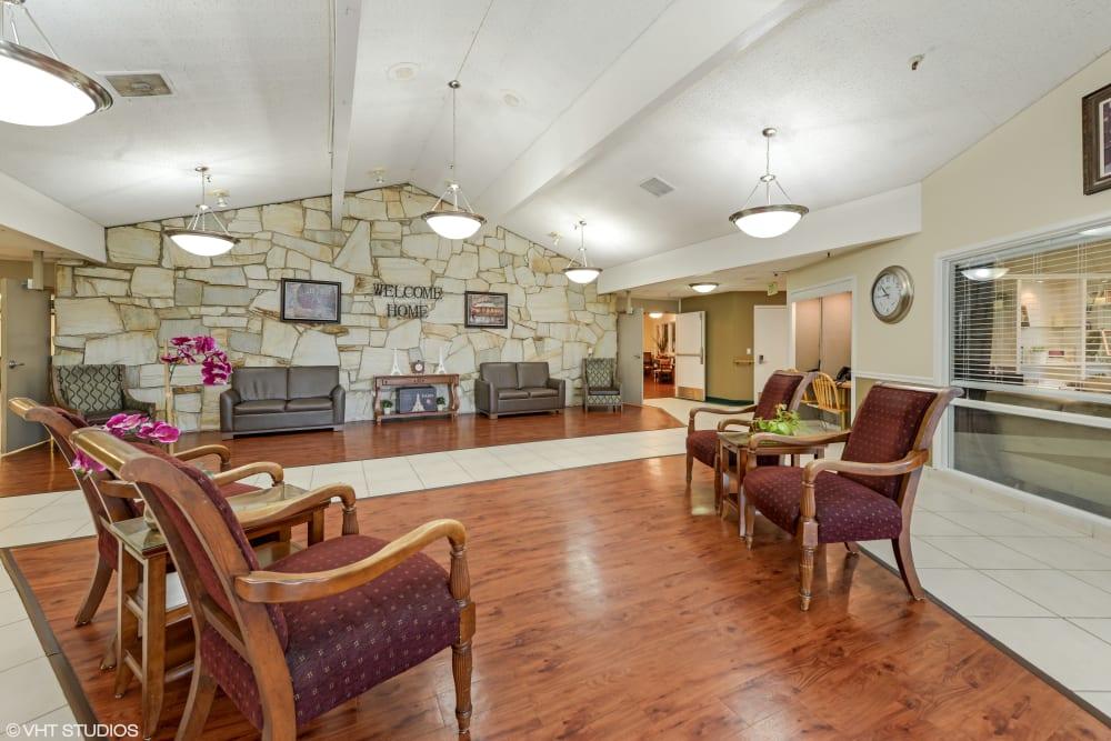 Lobby at Truewood by Merrill, Taylorsville in Taylorsville, Utah.