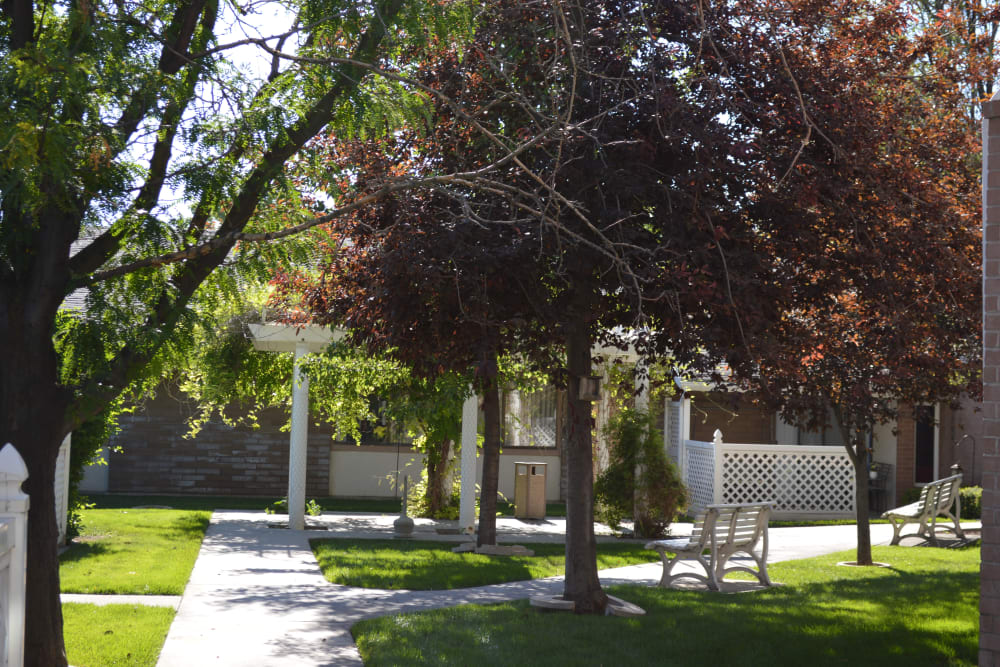 Walking paths at Golden Living in Taylorsville, Utah.