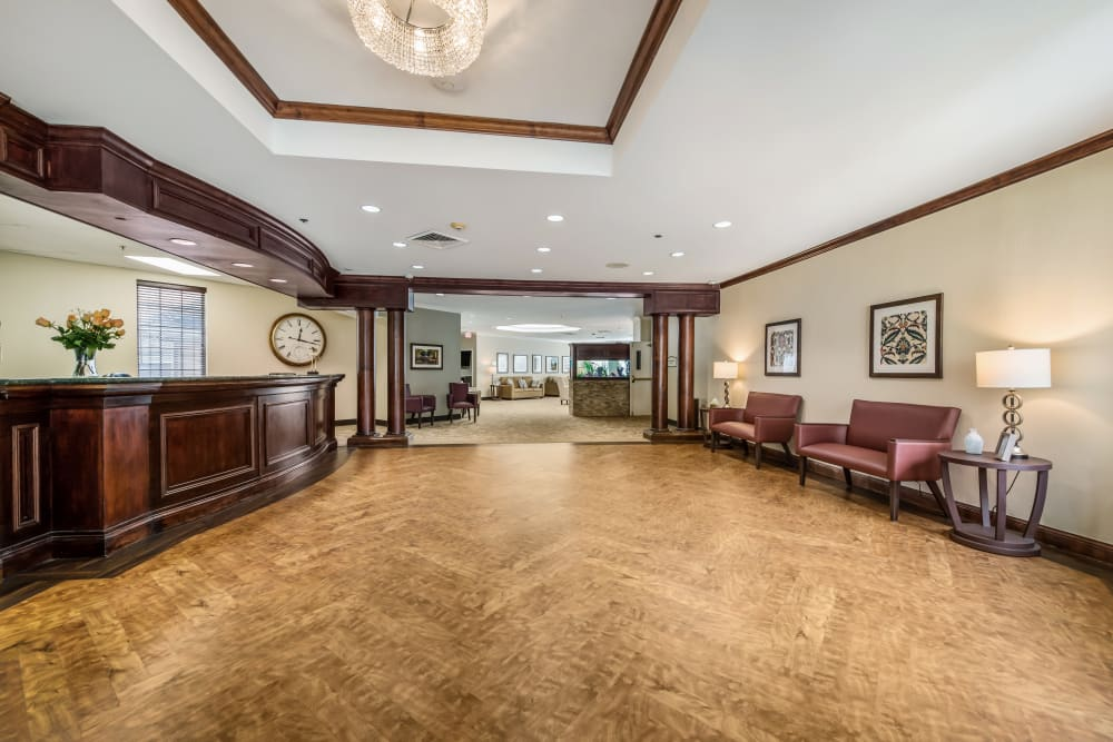 The lobby at Glen Riddle in Glen Riddle, Pennsylvania.