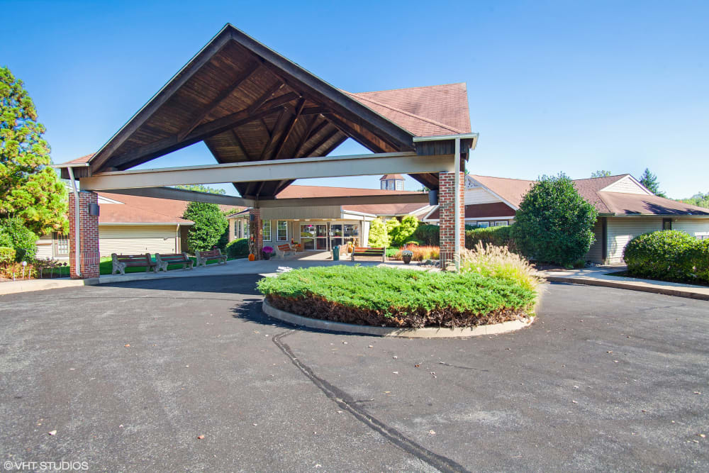 Main entance to Truewood by Merrill, Glen Riddle in Glen Riddle, Pennsylvania.