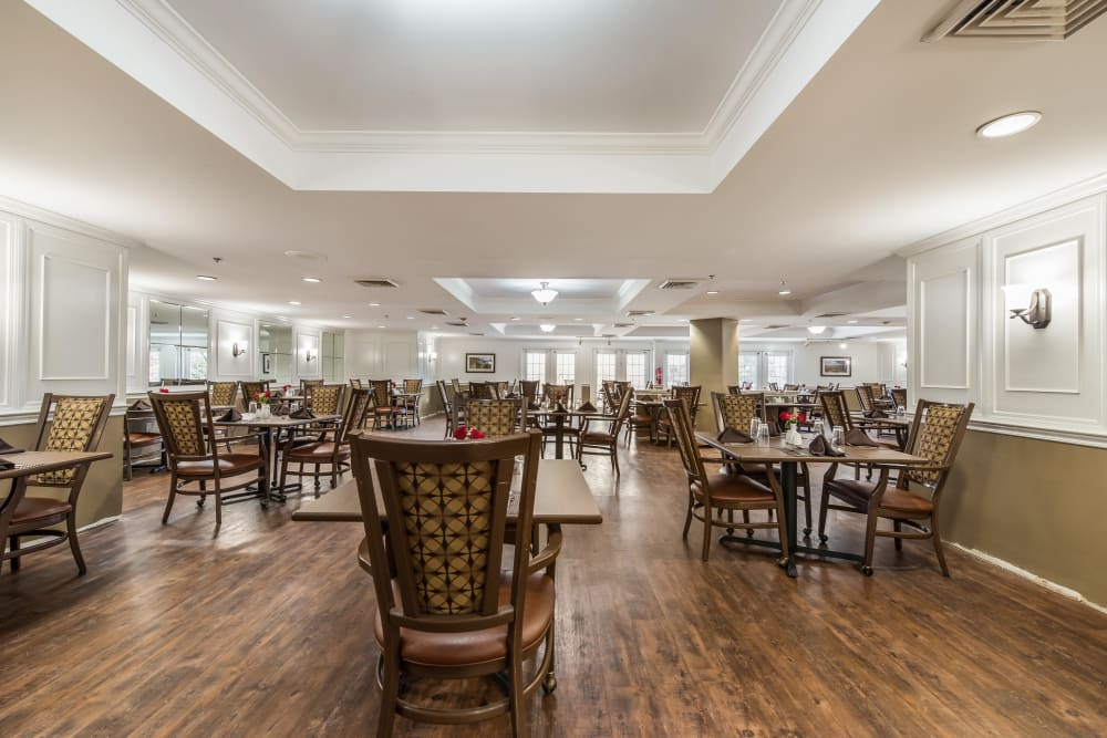 Main dining room at Glen Riddle in Glen Riddle, Pennsylvania.
