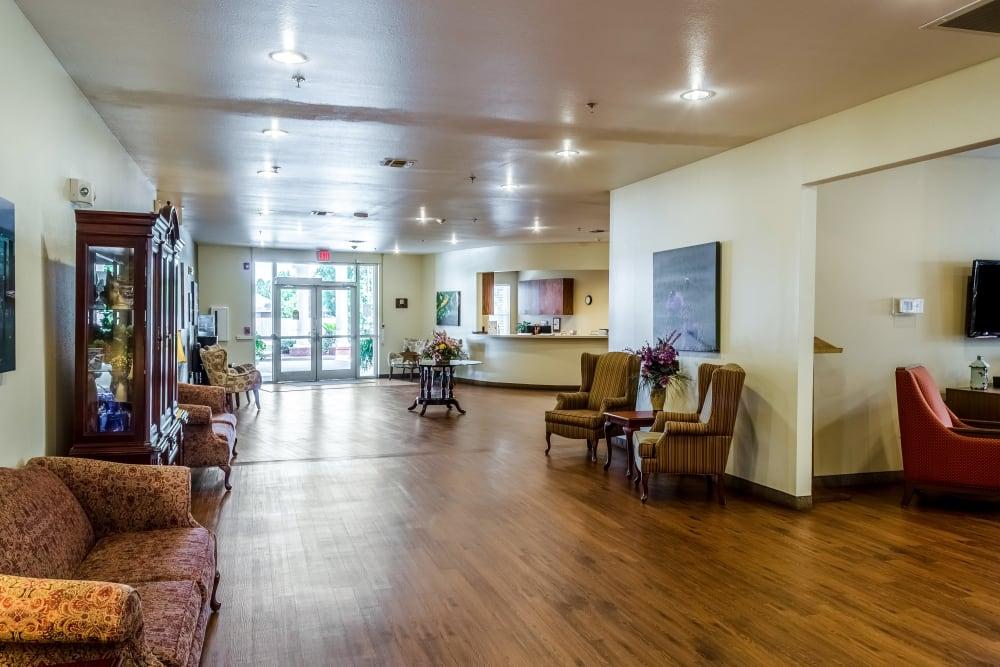 The lobby at Truewood by Merrill, Ocean Springs in Ocean Springs, Mississippi.