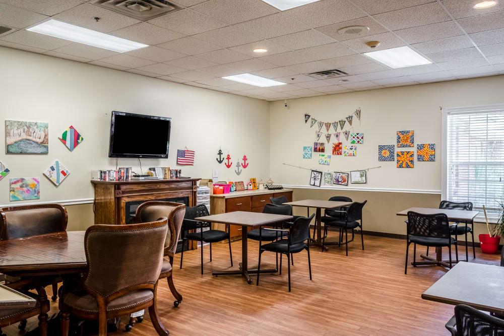 Activity room at Truewood by Merrill, Ocean Springs in Ocean Springs, Mississippi.