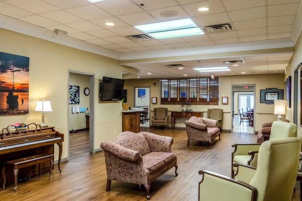 Waiting room at Truewood by Merrill, Ocean Springs in Ocean Springs, Mississippi.