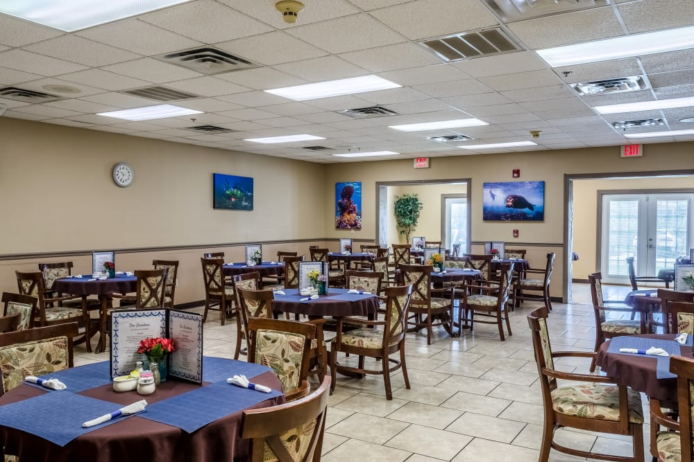 Large dining room at Truewood by Merrill, Ocean Springs in Ocean Springs, Mississippi.
