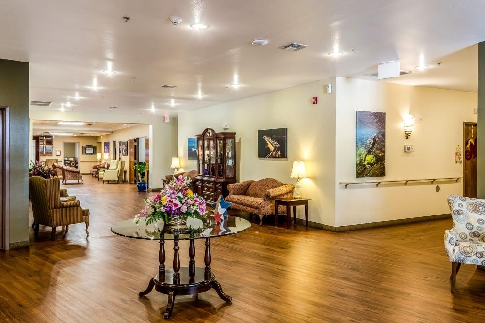 Spacious lobby at Truewood by Merrill, Ocean Springs in Ocean Springs, Mississippi.