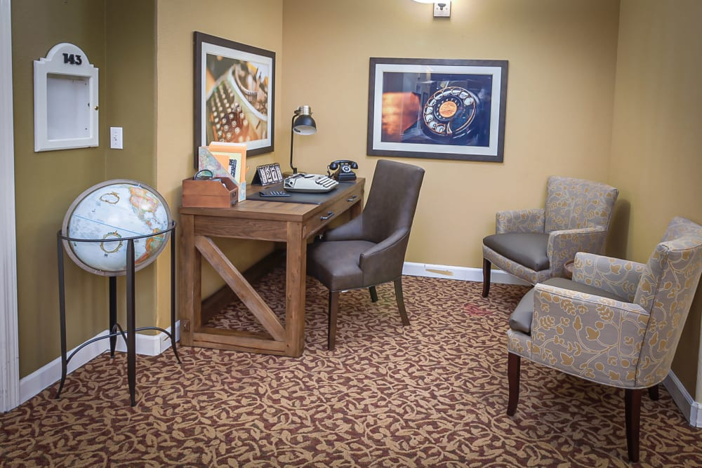 Office space at Evergreen Memory Care in Eugene, Oregon