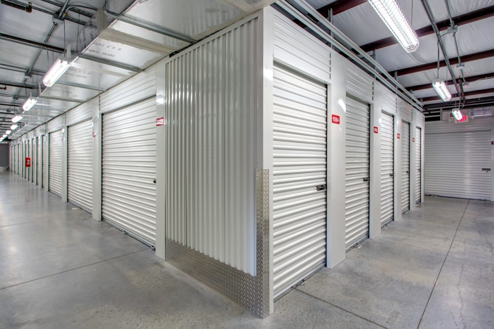 Indoor access storage units at Metro Self Storage in Riverview
