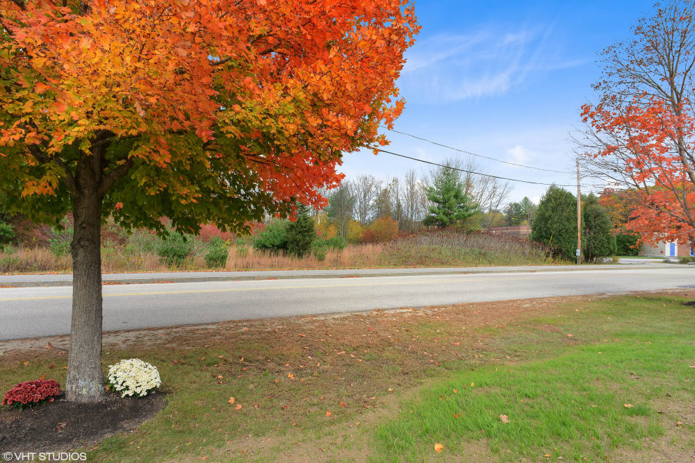 The road next to Pines of Newmarket in Newmarket, New Hampshire.