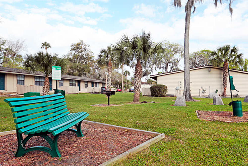 Wonderful dog park at Nova Wood Apartments in Daytona Beach, Florida