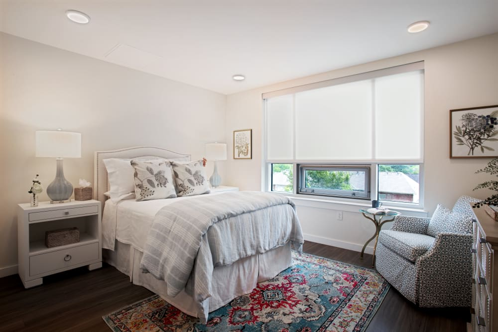 Assisted Living Model bedroom at The Village of Southampton