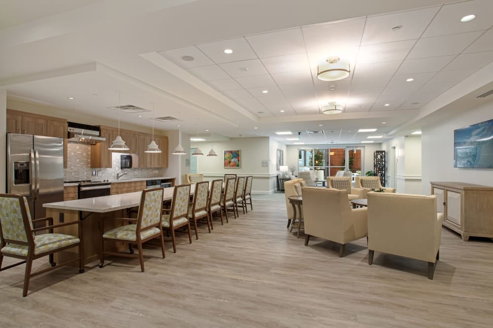 Assisted living Bistro at The Village of Southampton.