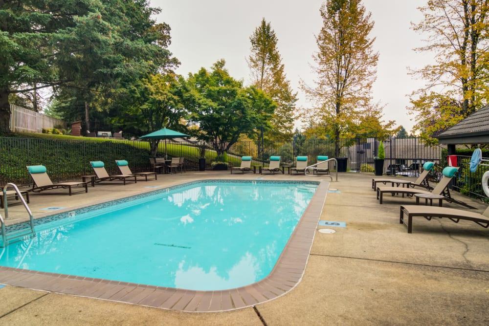 Exterior pool for swimming at Sofi Lake Oswego in Lake Oswego, OR