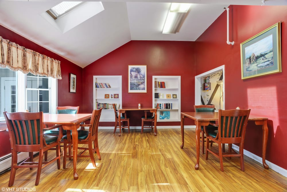Resident activity room at Kirkwood Corners in Lee, New Hampshire.