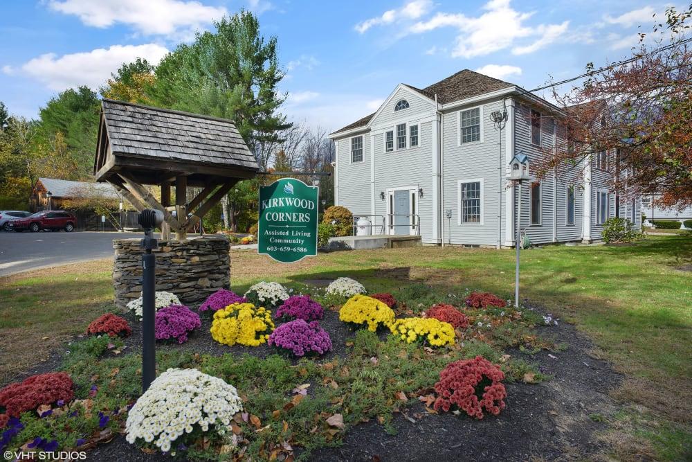 Exterior view of Kirkwood Corners in Lee, New Hampshire.