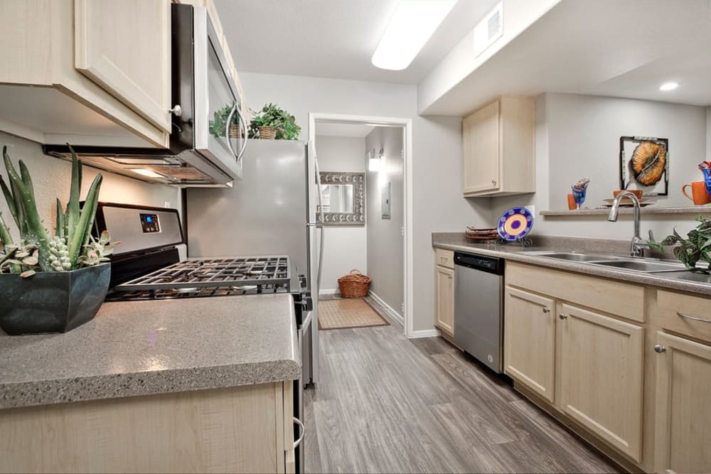 Kitchen at Cielo Apartment Homes in Henderson, Nevada