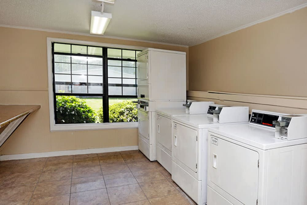 Communal laundry room at Stonewood Apartments in Jacksonville, Florida